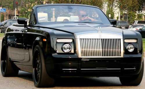 David Beckham's Rolls Royce Phantom Drophead