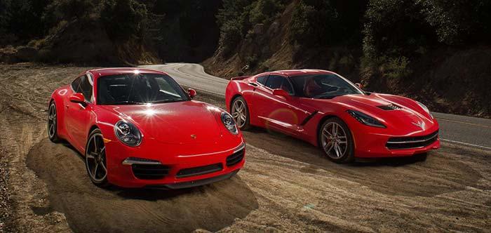 Chevrolet Corvette Stingray vs Porsche 911