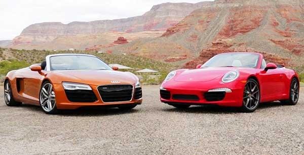 Porsche 911 Carrera 4S vs Audi R8