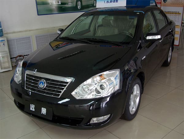 Geely from 2007 and onwards