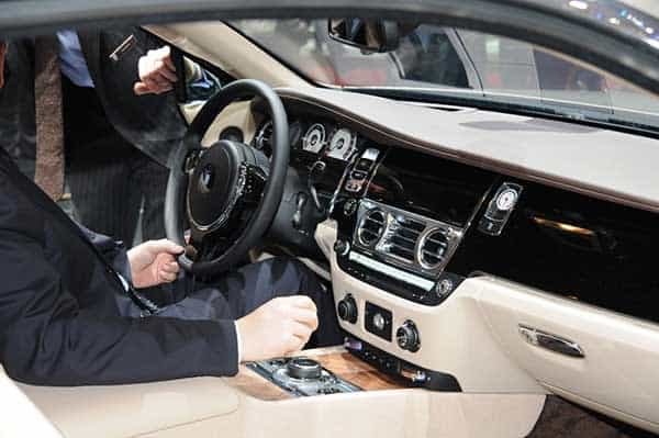 Interior Of The 2015 Rolls Royce Wraith